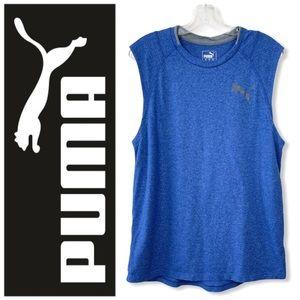 Men's PUMA Blue Active Gym Muscle Tee Tank Top M
